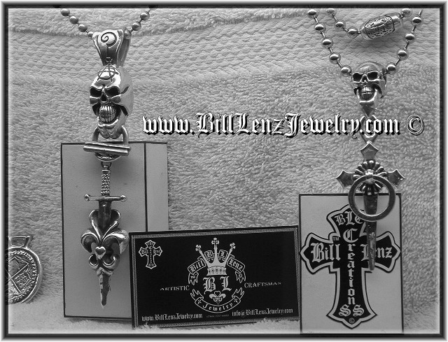 Bill Lenz Custom Tattoo Jewelry Pendants